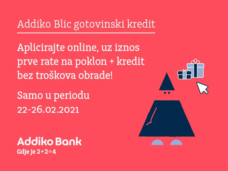 Abbl Posebna Online Ponuda Addiko Blic Gotovinskh Kredita