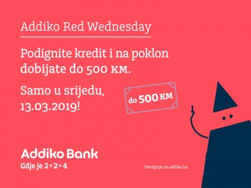 Addiko Red Wednesday 13 3